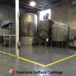 non slip industrial floor coatings in a factory