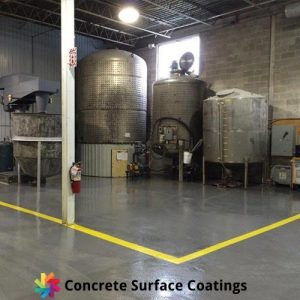 non slip industrial floor coatings in a factory