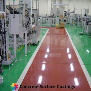 machinery workshop with industrial floor coatings