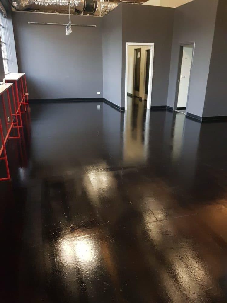 Concrete floor sealer in Melbourne Brewery 2