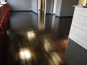 Concrete floor sealer in Melbourne Brewery 9
