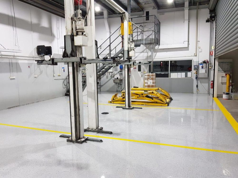 Camberwell Automotive Workshop Epoxy Floor Coating 4