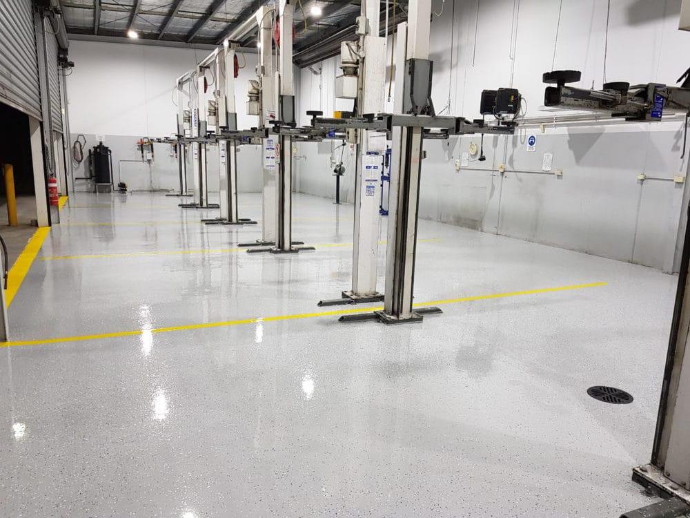 Camberwell Automotive Workshop Epoxy Floor Coating 6