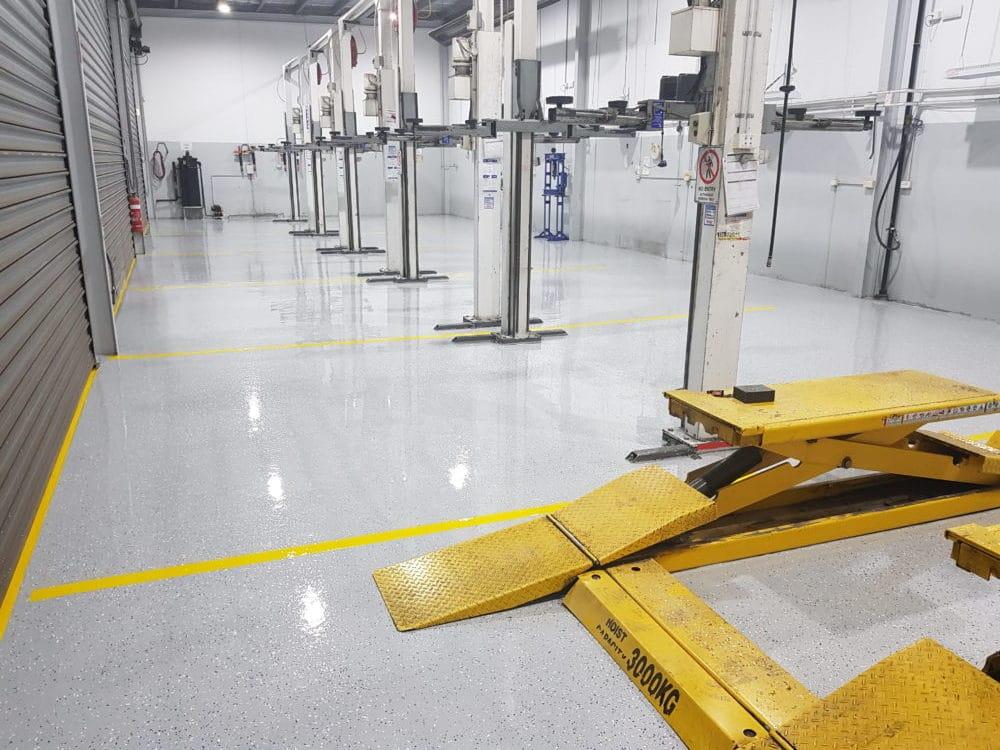 Camberwell Automotive Workshop Epoxy Floor Coating 2
