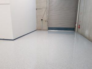 Epoxy floor coating in a Notting Hill automotive workshop 6