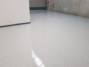 Epoxy floor coating in a Notting Hill automotive workshop 10
