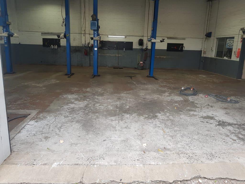 Epoxy Floor Coating in Automotive Workshop in Melbourne 15