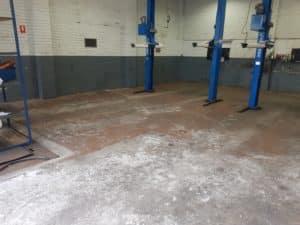 Epoxy Floor Coating in Automotive Workshop in Melbourne 17