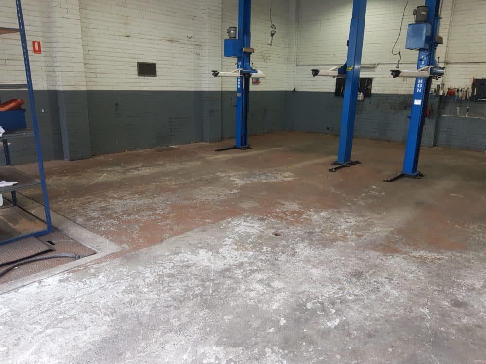 Epoxy Floor Coating in Automotive Workshop in Melbourne 3