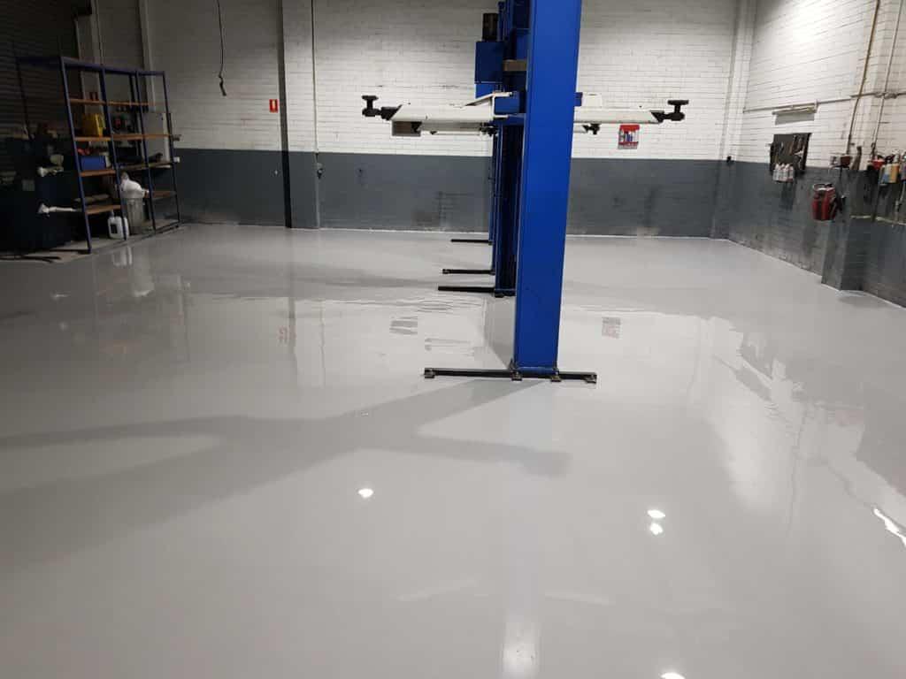 Epoxy Floor Coating in Automotive Workshop in Melbourne 9
