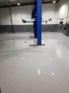 Epoxy Floor Coating in Automotive Workshop in Melbourne 8