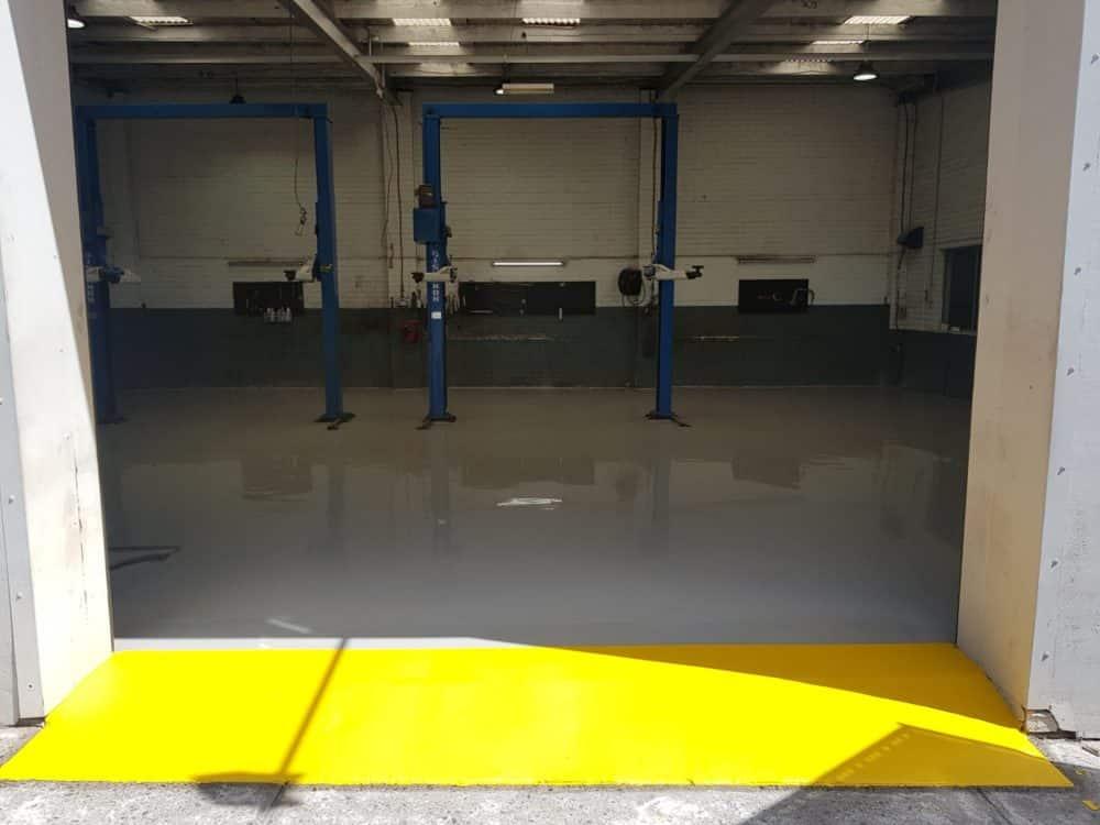 Epoxy Floor Coating in Automotive Workshop in Melbourne 18