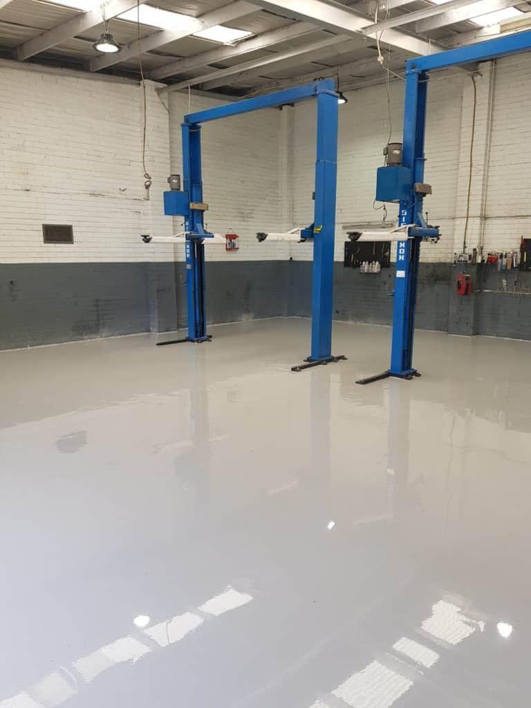 Epoxy Floor Coating in Automotive Workshop in Melbourne 6